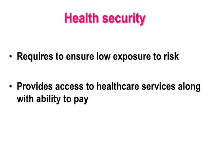 Health security