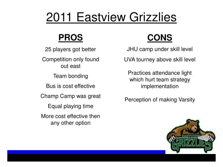 2011 Eastview Grizzlies