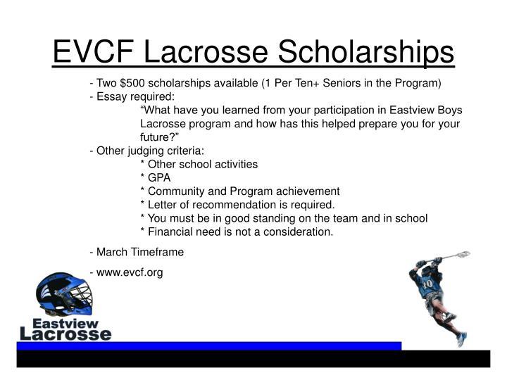 EVCF Lacrosse Scholarships