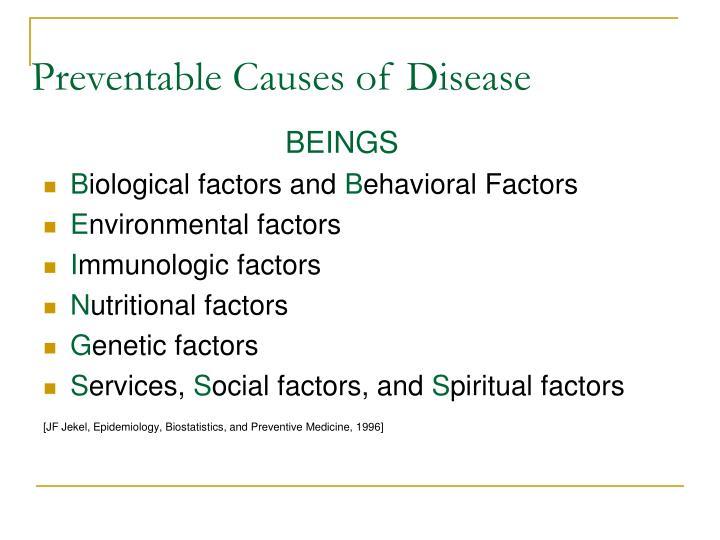 Preventable Causes of Disease