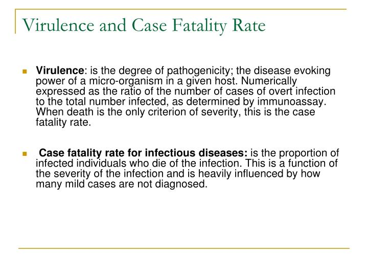 Virulence and Case Fatality Rate