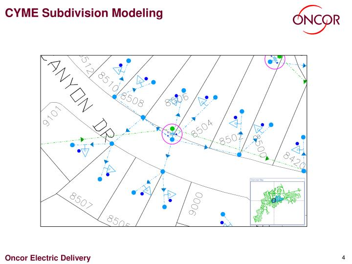 CYME Subdivision Modeling
