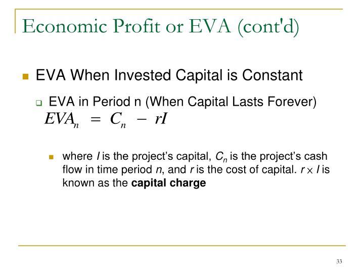 Economic Profit or EVA (cont'd)