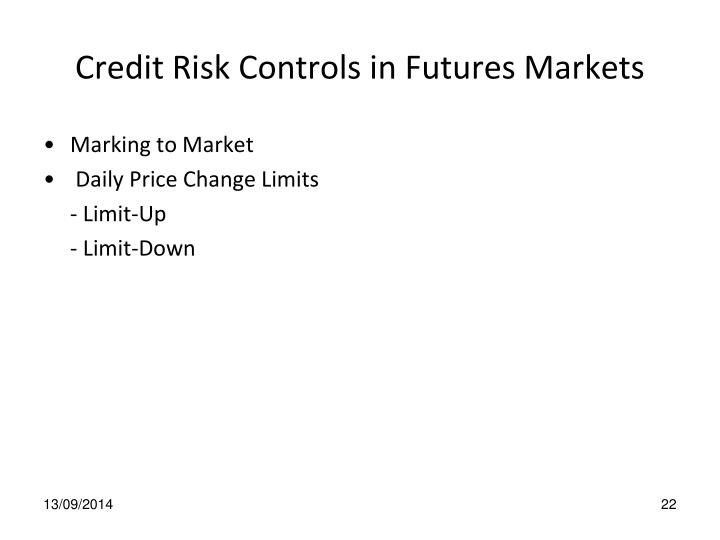 Credit Risk Controls in Futures Markets