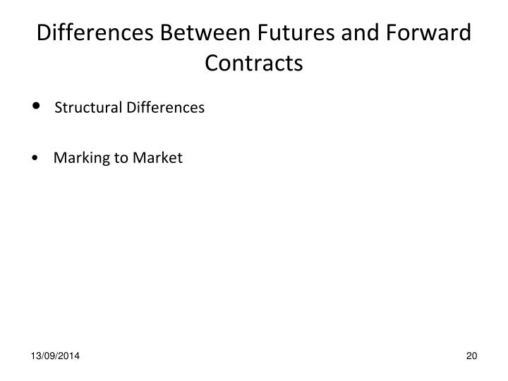 Differences Between Futures and Forward Contracts
