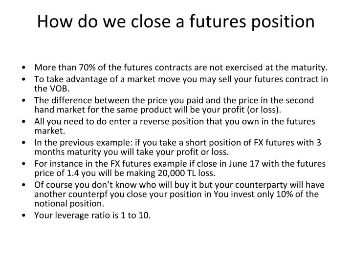 How do we close a futures position