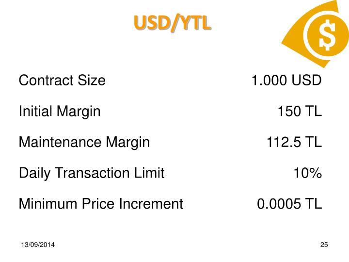 USD/YTL