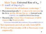 main topic universal rise of tot