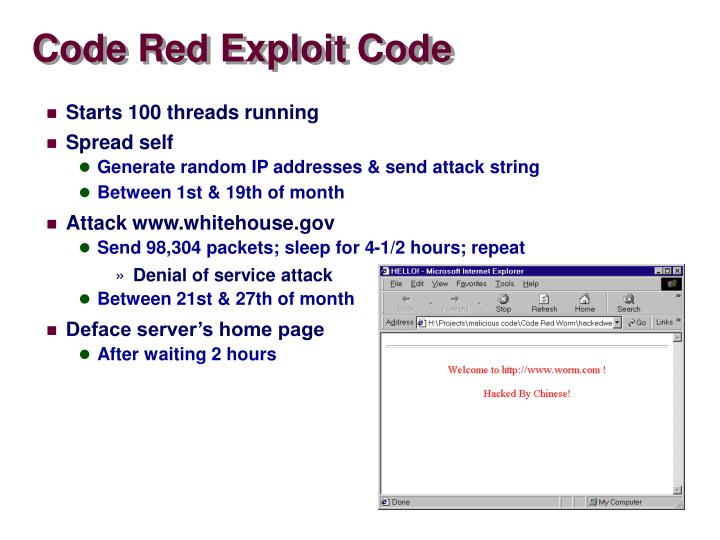 Code Red Exploit Code