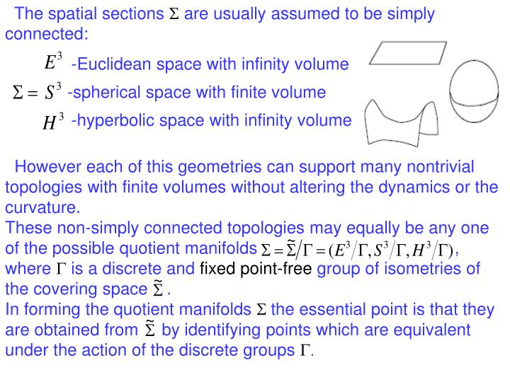 The spatial sections