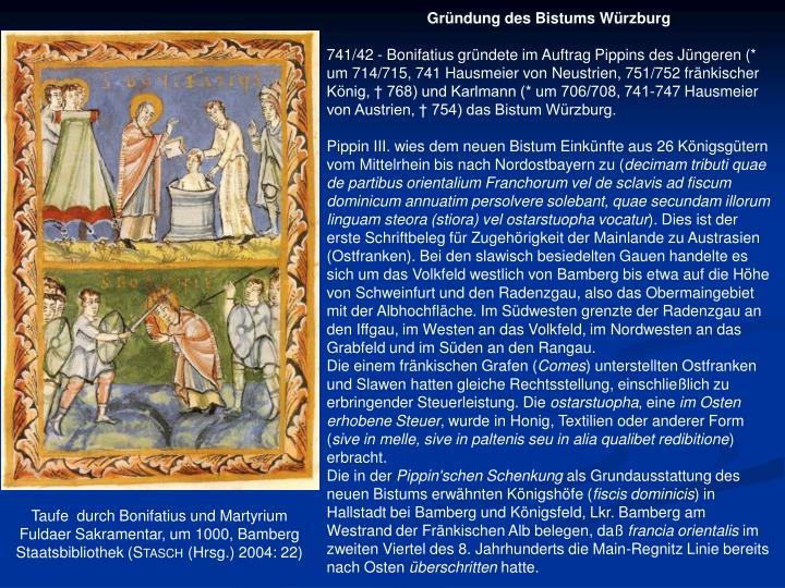 Gründung des Bistums Würzburg