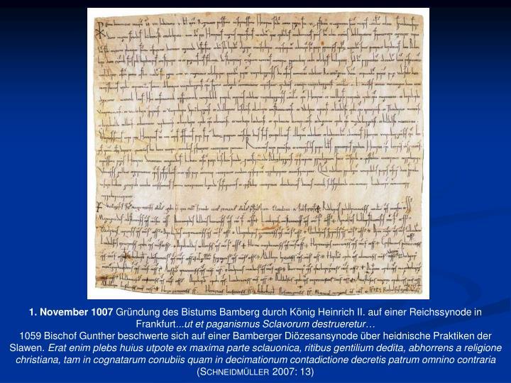 1. November 1007
