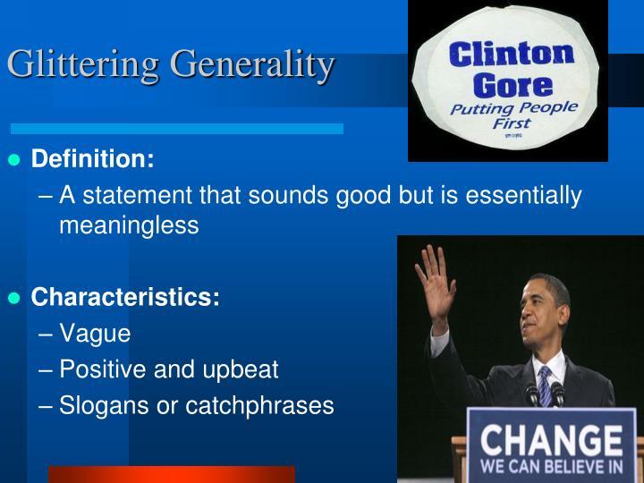 Glittering Generality