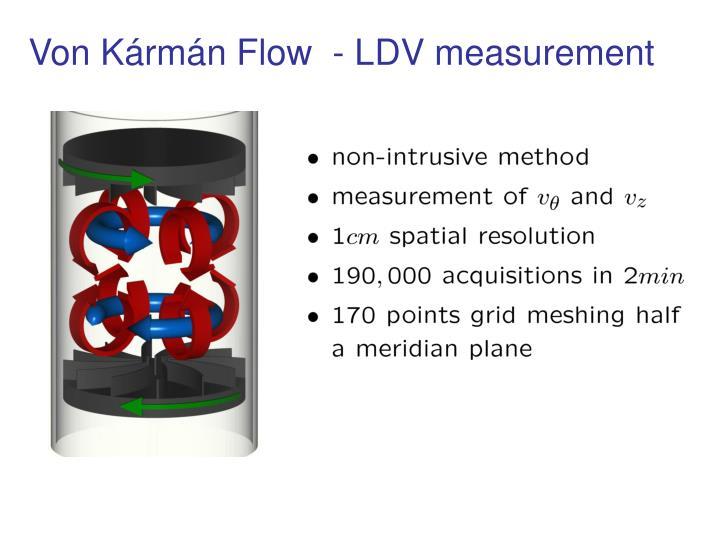 Von Kármán Flow  - LDV measurement