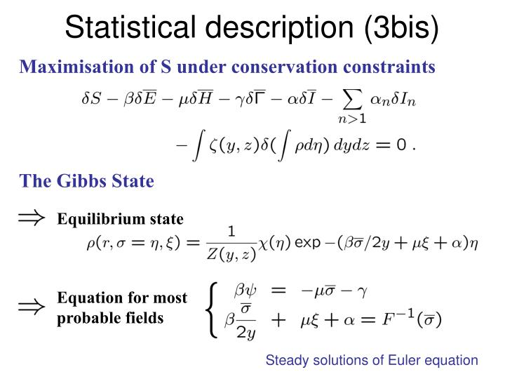 Statistical description (3bis)