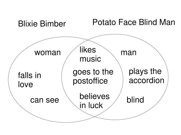 Potato Face Blind Man