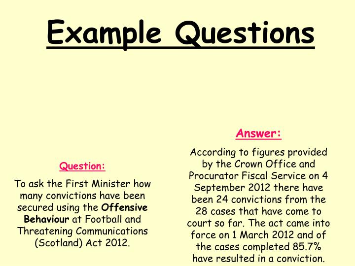 Example Questions