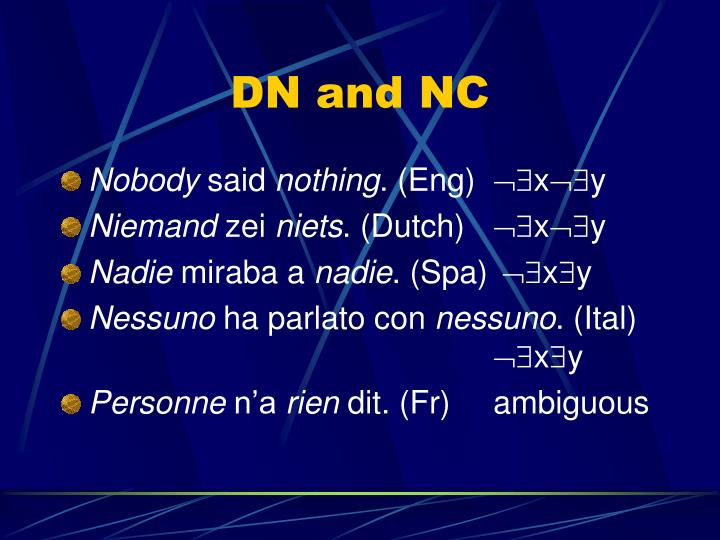 DN and NC