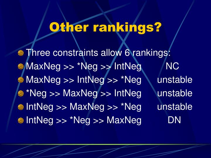 Other rankings?