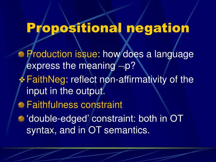 Propositional negation