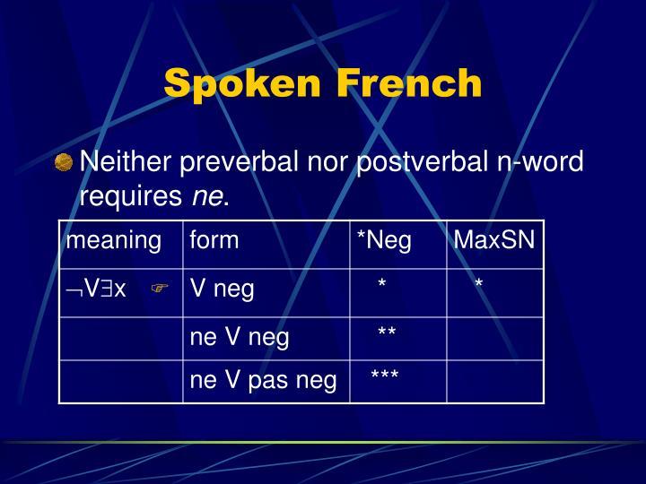 Spoken French