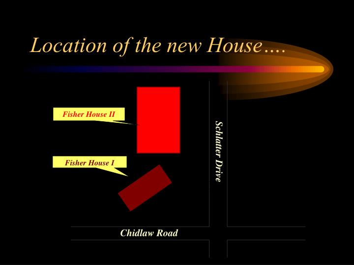 Location of the new House….