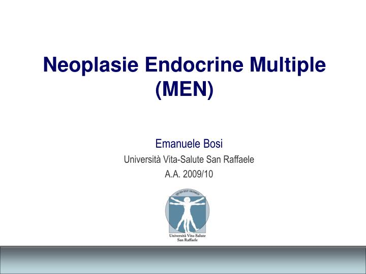 Neoplasie endocrine multiple men