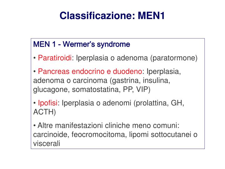 Classificazione: MEN1