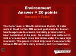 environment answer 20 points