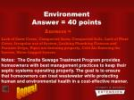 environment answer 40 points