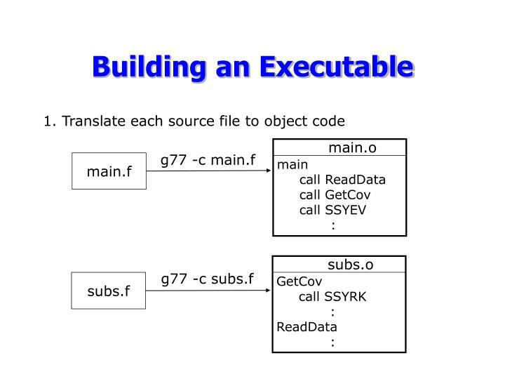 Building an Executable