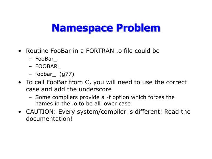 Namespace Problem