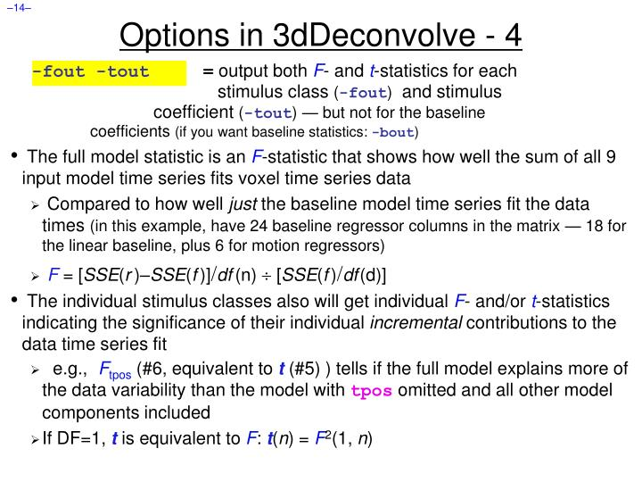 Options in 3dDeconvolve - 4