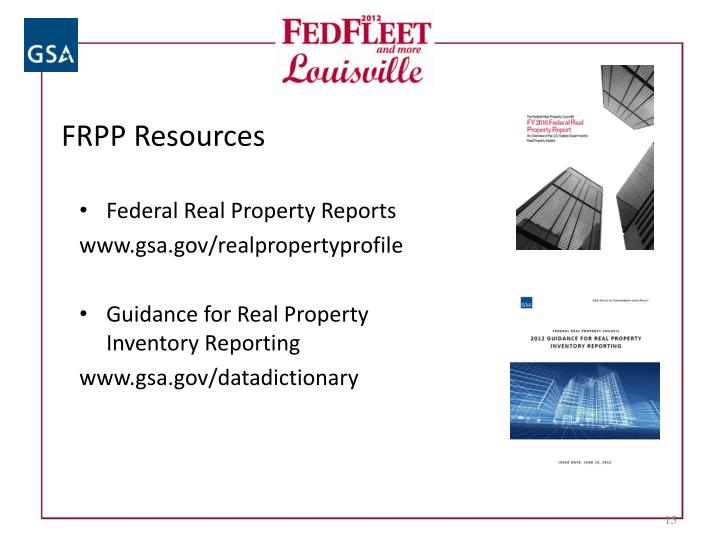 FRPP Resources