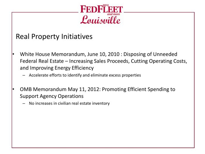 Real Property Initiatives