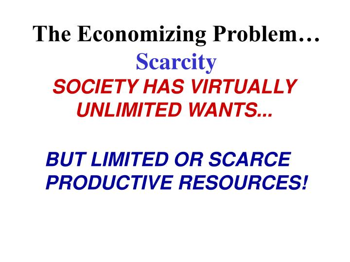 economizing problem