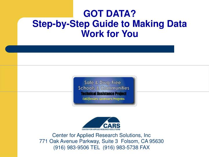 got data step by step guide to making data work for you n.