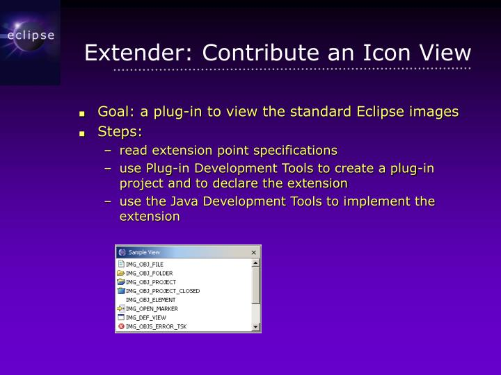 Extender: Contribute an Icon View