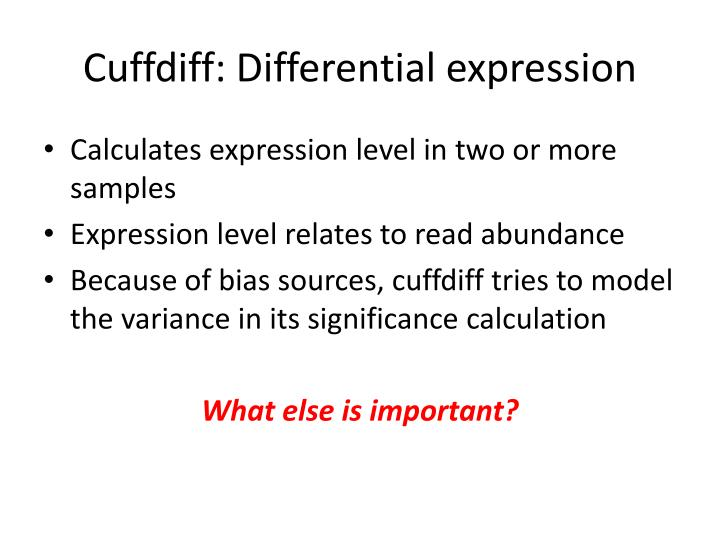 Cuffdiff: Differential expression