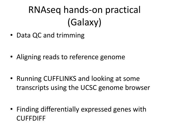 RNAseq hands-on practical (Galaxy)