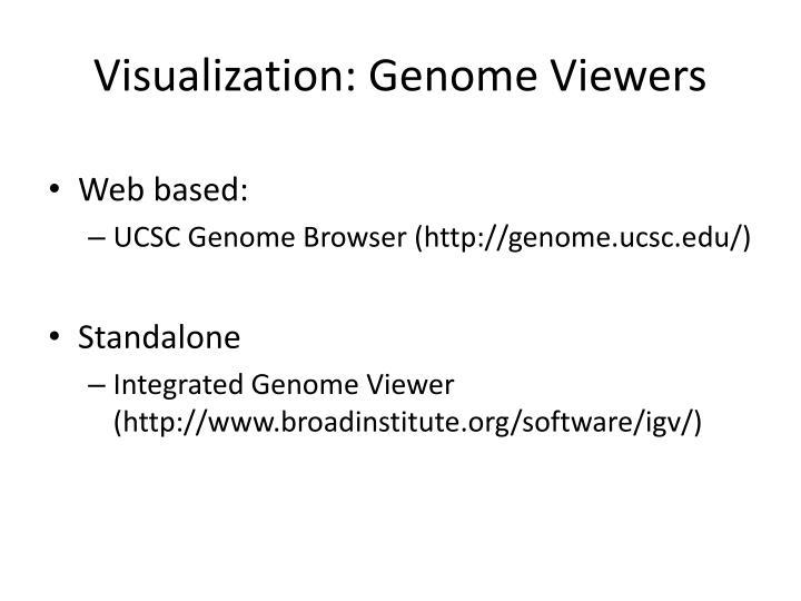 Visualization: Genome Viewers