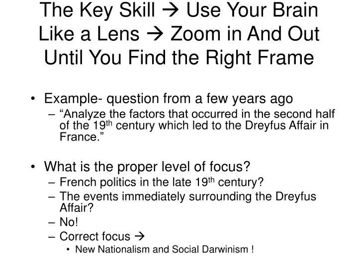 The Key Skill
