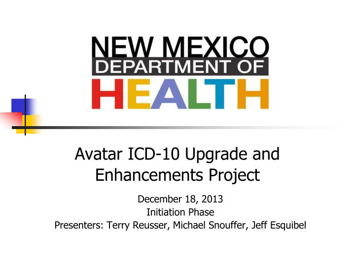 Avatar icd 10 upgrade and enhancements project