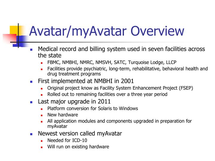 Avatar myavatar overview