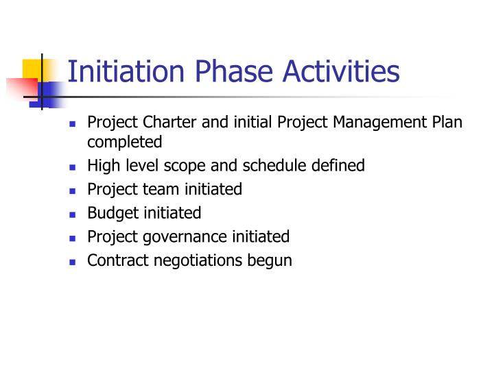Initiation Phase Activities