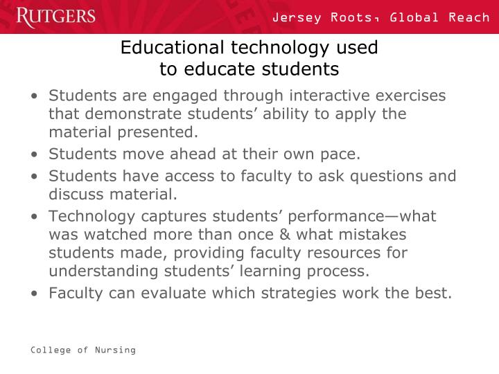 Educational technology used