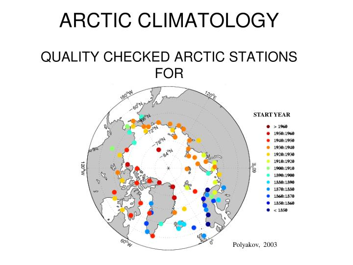 ARCTIC CLIMATOLOGY
