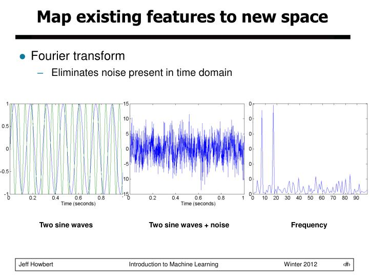 Map existing features to new space