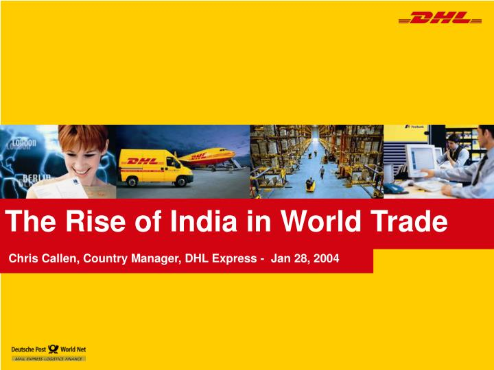 the rise of india in world trade n.