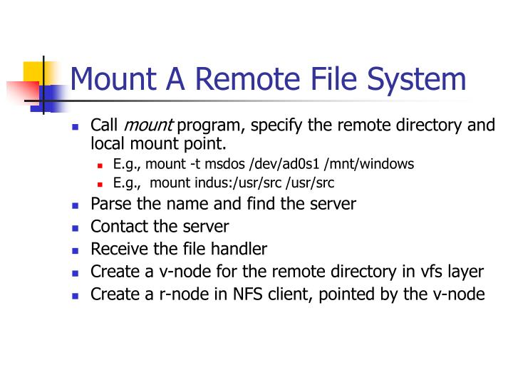 Mount A Remote File System